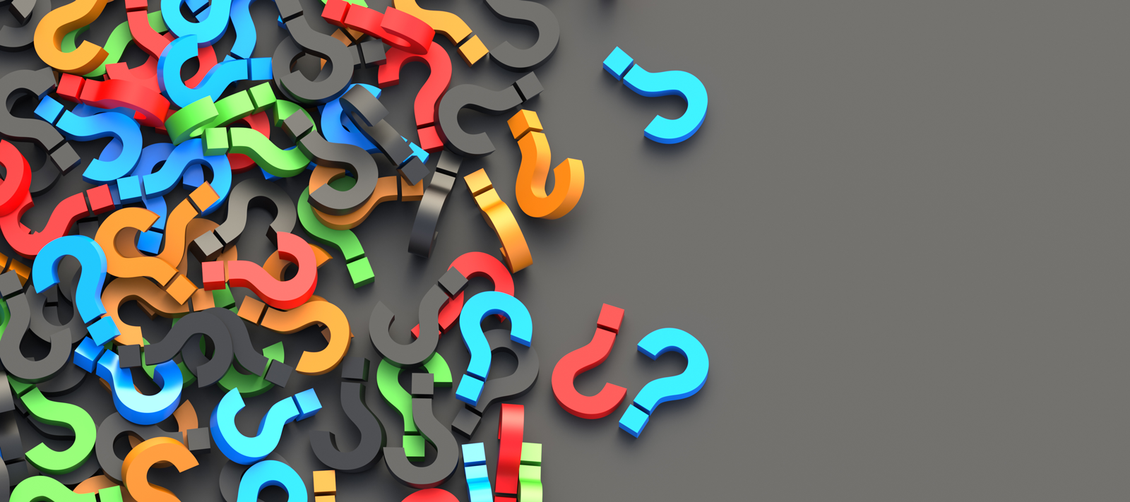 Colorful question mark banner image