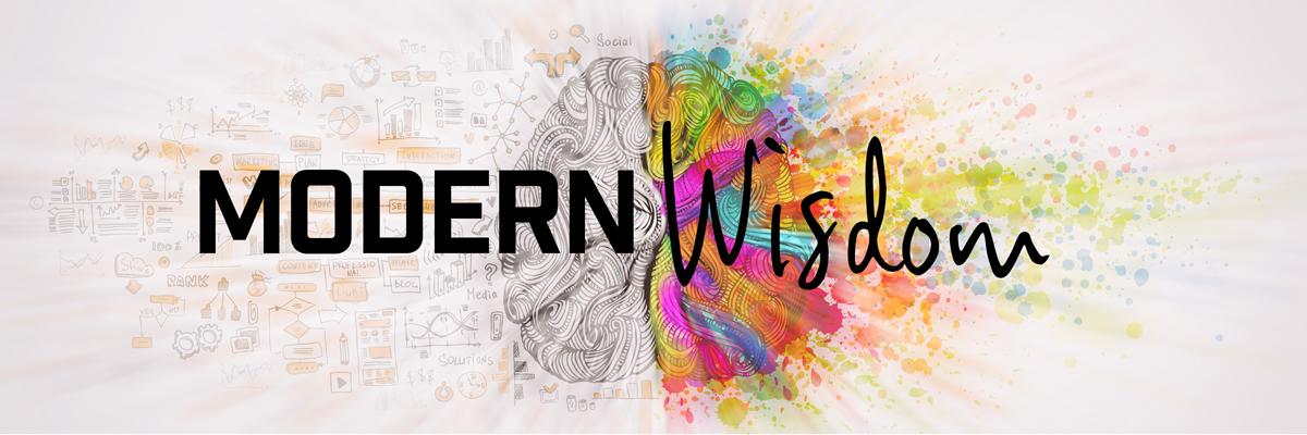 Modern wisdom two hemisphere brain banner image